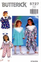 Butterick 5727 Sewing Pattern Girls Dress Jumpsuit Size 5 - 6 - 6X