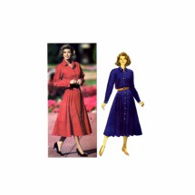 Ronnie Heller Dress Shirtdress Butterick 6312 Vintage Sewing Pattern Size 12 - 14 - 16