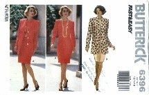 Butterick 6396 Jacket Dress Suit Size 12 - 16 - Bust 34 - 38