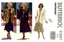 Butterick 6397 Sewing Pattern Misses Jacket Dress Size 18 - 20 - 22