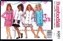Butterick 6501 Sewing Pattern Girls Top Hankie Skirt Size 7 - 8 - 10