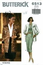 Butterick 6513 Jacket & Dress Size 12 - 16 - Bust 34 - 38