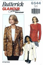 Butterick 6544 Sewing Pattern Misses Jacket Size 6 - 10 - Bust 30 1/2 - 32 1/2