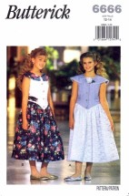Butterick 6666 Sleeveless Dress Size 12 - 14