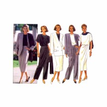 1990s Jacket Top Skirt Pants Scarf Butterick 6709 Sewing Pattern Size 6 - 8 - 10
