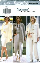 Butterick 3370 Jacket Top Skirt Pants Size 8 - 12 - Bust 31 1/2 - 34