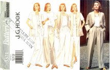 Butterick 3371 Jacket Vest Skirt Pants Size 12 - 16 - Bust 34 - 38