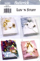 Butterick 3400 Crafts Sewing Pattern Memory Boxes