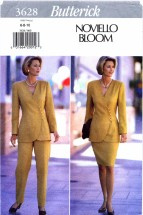 Butterick 3628 Sewing Pattern Noviello Bloom Top Skirt Pants Size 6 - 10