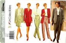 Butterick 3695 Jacket Blouse Skirt Pants Suit Size 6 - 10