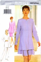Butterick 3810 Sewing Pattern Misses Tunic Skirt Pants Size 6 - 8 - 10