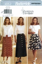 Butterick 4062 Misses Flared Skirts Size 14 - 18 - Waist 28 - 32