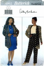 Butterick 4092 Jacket Top Skirt Pants Size 14 - 18 - Bust 36 - 40