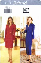 Butterick 4142 Sewing Pattern David Warren Dress Size 12 - 14 - 16