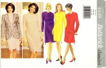 Misses Jacket Dress Suit Size 6 - 10 Butterick 4149 Sewing Pattern