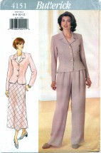 Butterick 4151 Top Skirt Pants Size 6 - 12