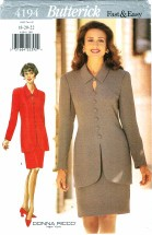 Butterick 4194 Donna Ricco Misses Top & Skirt Size 18 - 22