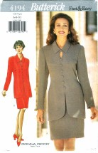 Butterick 4194 Donna Ricco Misses Top & Skirt Size 6 - 10