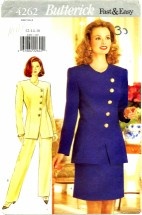 Butterick 4262 Jacket Skirt Pants Suit Size 12 - 16 - Bust 34 - 38