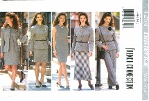 Butterick 4264 Jacket Dress Skirt Pants Suit Size 6 - 12