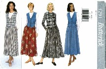 Butterick 4291 Misses Dropped Waist Dress Size 12 - 16 - Bust 34 - 38