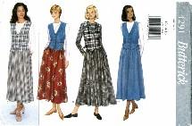 Butterick 4291 Misses Dropped Waist Dress Size 12 - 16 - Bust 34 - 38