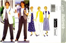 Butterick 4345 Jacket Top Vest Jumper Pants Size 12 - 16