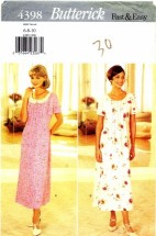Butterick 4398 Sewing Pattern Misses Dress Slip Size 6 - 8 - 10