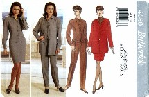 Butterick 4680 Jacket Top Skirt Pants Size 12 - 16 - Bust 34 - 38