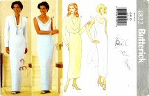 Butterick 4822 Jacket and Dress Size 6 - 10 - Bust 30 1/2 - 32 1/2