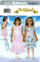 Butterick 4834 Sleeveless Dress Size 2 - 4