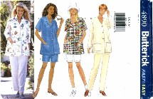 Butterick 4890 Top Shorts Pants Size 6 - 14 - Bust 30 1/2 - 36