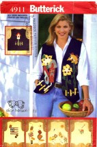 Butterick 4911 Sewing Pattern Alice Hanson Appliqued Vest Size 8 - 18