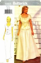Butterick 5003 Top & Skirt Size 6 - 10 - Bust 30 1/2 - 32 1/2