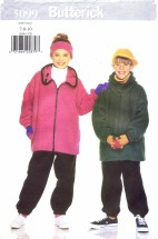 Butterick 5099 Jacket Pants Cap Headband Size 7 - 10