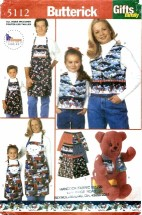 Butterick 5112 Gifts for the Family Pillow Cover Vest Apron