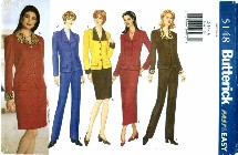 Butterick 5148 Jacket Skirt Pants Suit Size 12 - 16 - Bust 34 - 38