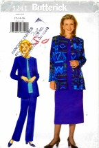 Butterick 5241 Sewing Pattern Misses Jacket Top Skirt Pants Size 12 - 16 Bust 34 - 38