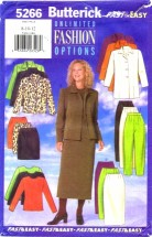 Butterick 5266 Jacket Top Skirt Pants Size 8 - 12 - Bust 31 1/2 - 34