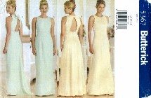 Butterick 5367 Sewing Pattern Misses Evening Prom Dress Gown Scarf Size 12 - 16 - Bust 34 - 38