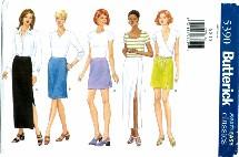 Butterick 5390 Straight Skirt Size 6 - 10