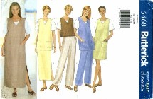 Butterick 5468 Vest Jumper Tunic Top Skirt Pants Size 18 - 22 - Bust 40 - 44