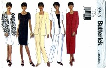 Butterick 5945 Jacket Top Dress Skirt Pants Size 8 - 12 - Bust 31 1/2 - 34