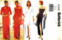 Butterick 6008 Sewing Pattern Misses Formal Evening Full Figure Dress Gown Size 18 - 20 - 22