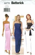 Butterick 6070 Top Skirt Stole Size 12 - 16 - Bust 34 - 38