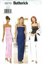 Butterick 6070 Top Skirt Stole Size 6 - 10 - Bust 30 1/2 - 32 1/2