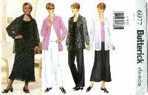 Butterick 6077 Shirt Tank Top Skirt Pants Size 8 - 12 - Bust 31 1/2 - 34