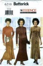 Butterick 6210 Top Skirt Bag Size 8 - 12 - Bust 31 1/2 - 34