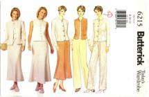Butterick 6215 Jacket Vest Skirt Pants Size 8 - 12 - Bust 31 1/2 - 34