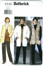 Butterick 6346 Jacket Vest Pants Size 6 - 10 - Bust 30 1/2 - 32 1/2